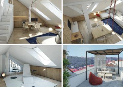 Eigentumswohnung mit Dachterrasse in Prag