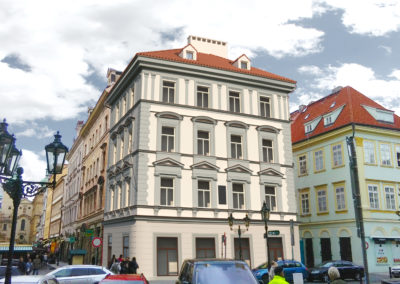 Renovierung einer Fassade nach Denkmalschutz