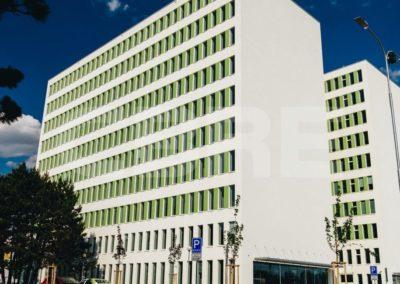 Fassadendämmung einer Büroeinheit